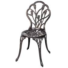 Patio Furniture Table And Chairs Set by 3 Pcs Cast Aluminum Outdoor Table And Chair Set Outdoor