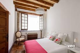 Schlafzimmer Queen Apartment Mieten Monsalves Strasse Sevilla Spanien Monsalves