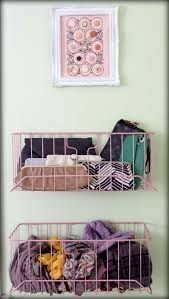 baskets on back of closet door for scarves accessories etc so