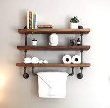 Bathroom Shelf Unit Industrial Pipe Shelf Bathroom Shelves Kitchen Shelves