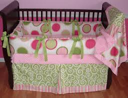 transform baby bedding pink and green great home decor