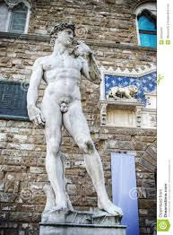 michelangelo u0027s david seen from below in hdr stock photo image
