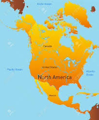North America Continent Map by Abstract Map Of North America Continent Stock Photo Picture And
