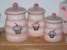 cupcake canisters for kitchen cupcake bling omg i love these but not practical i wouldn t