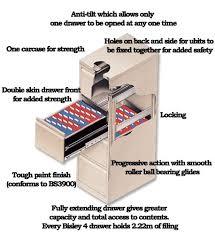 Bisley Filing Cabinet 2 Drawer Steel Filing Cabinet Flush Front Silver Bisley Bs2e
