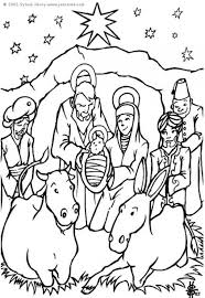 coloring page nativity scene img 6448