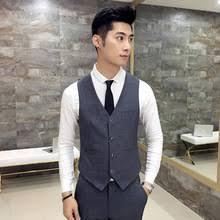 online get cheap mens suit vest gray aliexpress com alibaba group