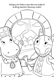 backyardigans uniqua coloring pages printable backyardigans