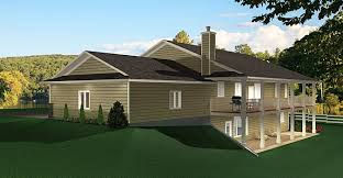 bungalow floor plans with walkout basement ranch style bungalow with walkout basement a well laid out home