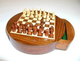 round drawer magnetic chess newcentco board games