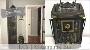 Diy Steampunk Home Decor Room Decor Steampunk Industrial Trash Can Bin Youtube