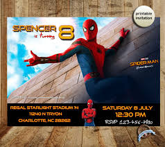 spiderman homecoming spider man homecoming invitation spiderman