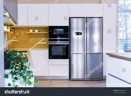 modern home interior modern kitchen design stock photo 653968771