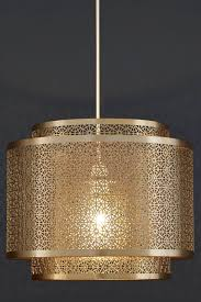 buy zhara brass finish easy fit pendant from the next uk online