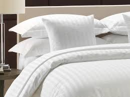 complete the high end hotel look with our satin stripe top sheets