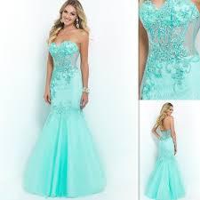 Light Blue Mermaid Dress Aliexpress Com Buy Light Blue Formal Sweetheart Appliques