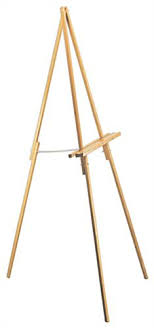 artist easel features oak finish 64 with rubber