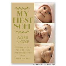 my noel birth announcement invitations by