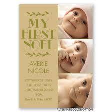 birth announcement my noel birth announcement invitations by