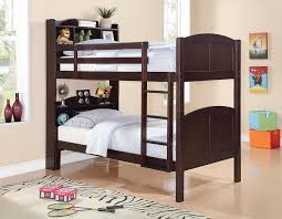 Bookcase With Ladder Amazon Com Coaster Parker Bookcase Twin Over Twin Bunk Bed