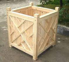 Wooden Planter With Trellis Wood Planter Container