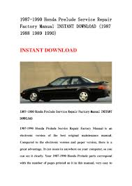 1987 1990 honda prelude service repair factory manual instant downloa u2026
