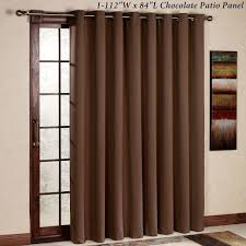 Interiors Sliding Glass Door Curtains by Interior Sliding Doors Insulated Patio Door Drapes Brown