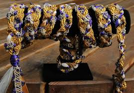 handfasting cords for sale handfasting cord in purple and gold with satin ribbons and