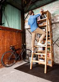 good idea bookshelf with a built in ladder improvised life