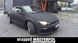 volkswagen scirocco r black vw scirocco wrapped by masterfol black matte youtube