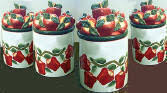 apple kitchen canisters apple kitchen decor theme country apple ceramic canisters