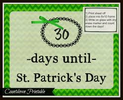st patrick u0027s day countdown printable domestic mommyhood