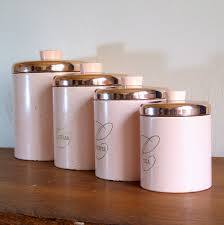 copper kitchen canisters pink kitchen canister set pink metal ransburg kitchen canister set
