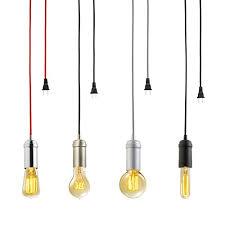 Ceiling Lamp Plug In by Globe Electric Vintage Edison 1 Light Plug In Mini Pendant Matte