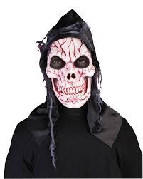 hooded ghost skull mask halloween fancy dress costume accessory