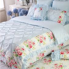 Pinched Duvet Cover Blue Bedding
