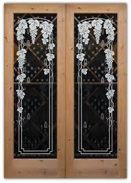 etched glass doors etched glass wine room door sans soucie art glass