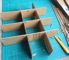 cardboard ornament storage box with dividers