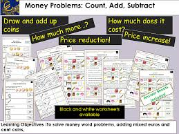 money euros and cents presentations worksheets activities