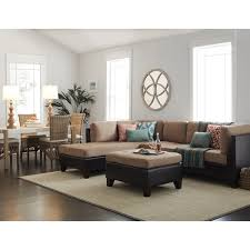 abbyson charlotte beige sectional sofa and ottoman free shipping