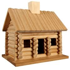 artminds log cabin birdhouse