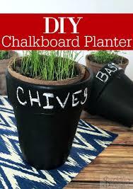 diy chalkboard planter perfect for indoor herb gardens
