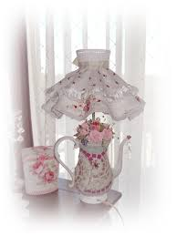 shabby cottage teapot lamp all hm mosaic body lamp shade clay
