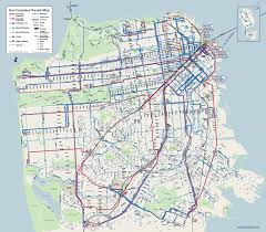 San Francisco Tram Map by San Francisco Google Map Michigan Map
