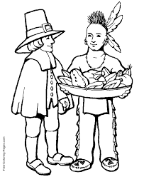 thanksgiving dinner coloring pages kids coloring