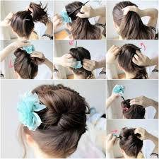 long hairstyles easy updos 5 minute romantic bun hairstyle easy