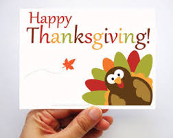 thanksgiving card set thanksgiving turkey card i am thankful