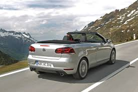 volkswagen golf gti 2013 2013 tungsten silver vw golf gti cabriolet rear eurocar news