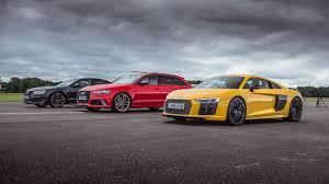 audi rs6 vs top gear drag races audi r8 v10 plus vs audi rs6 vs audi s8 top