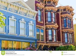 Victorian House San Francisco by San Francisco Victorian Houses In Pacific Heights California Stock